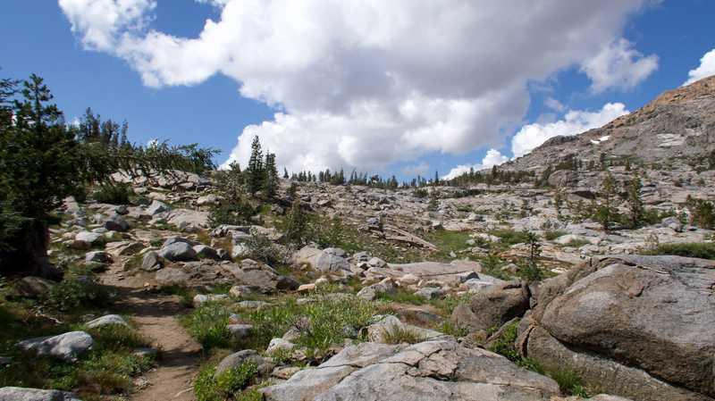 climb to Dorothy Lake Pass
