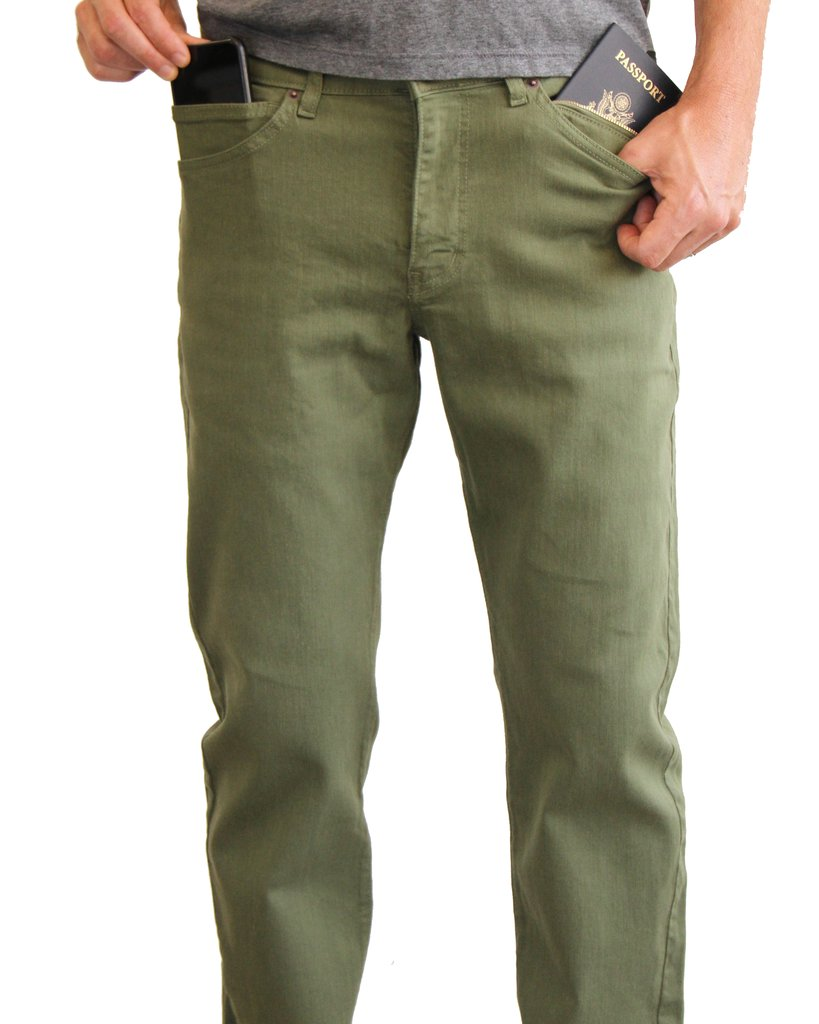 Green Aviator Jeans