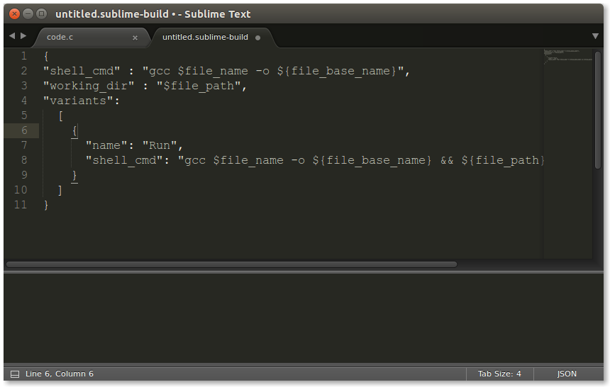 Build C trong Sublime Text 3