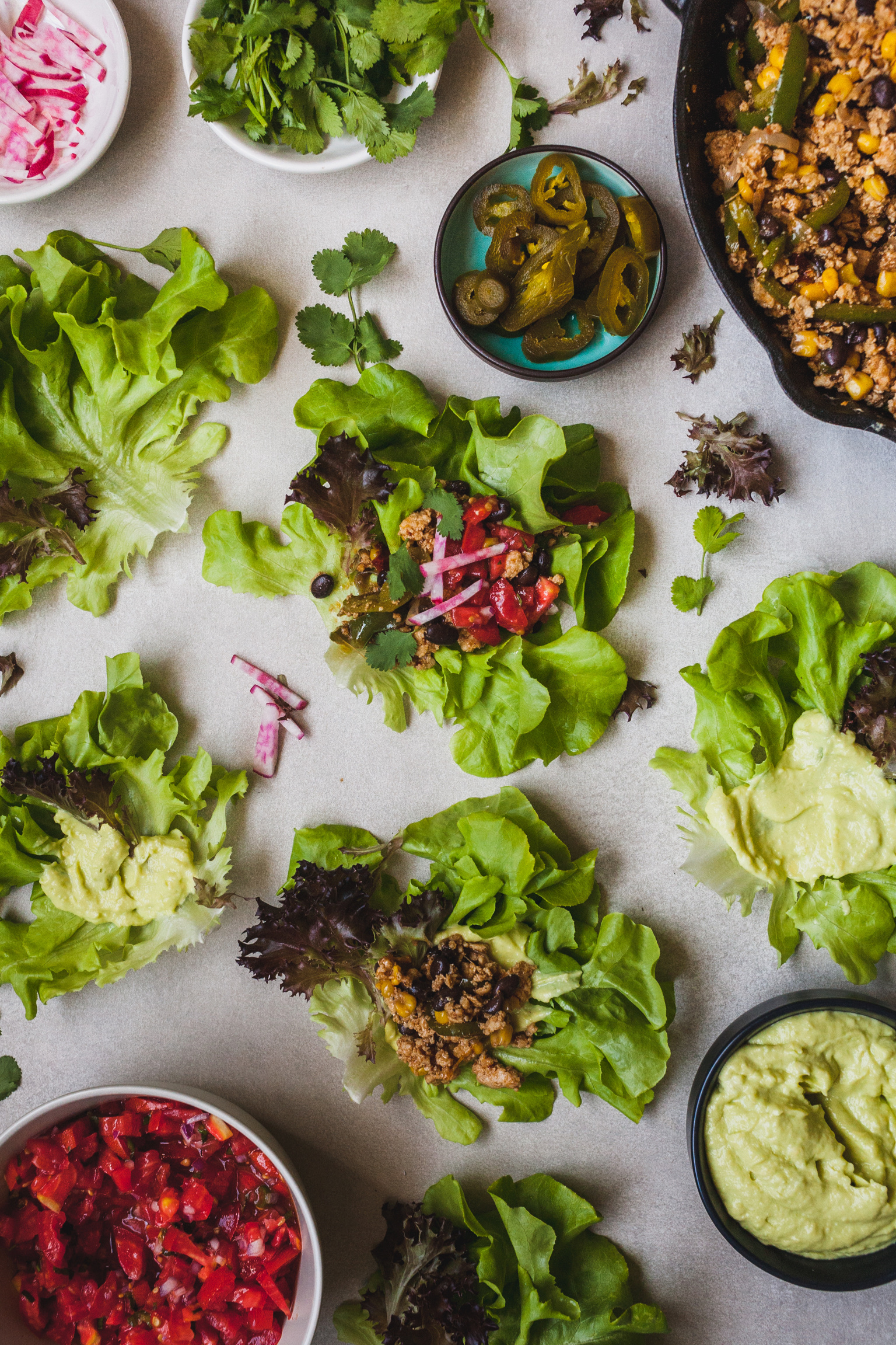 Chipotle Loaded Chicken Lettuce Wraps