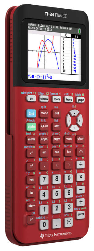 Red TI-84 Plus CE