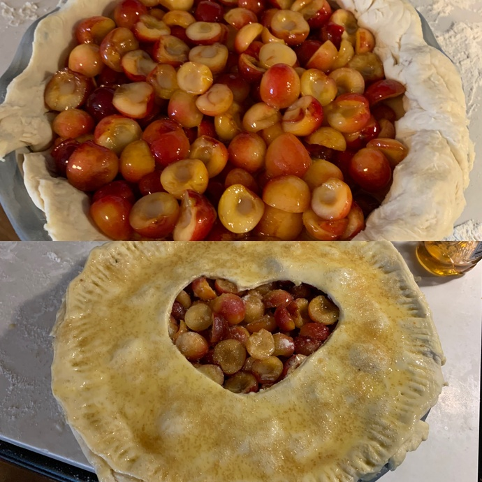Pie before it was baked