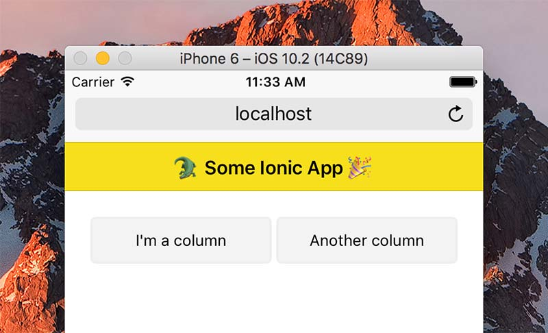 Your first grid in Ionic