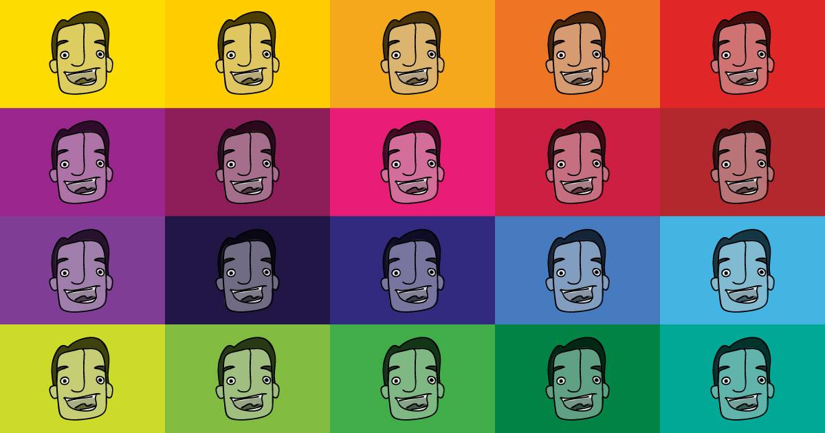 Sam Killermann doodle self portrait collage
