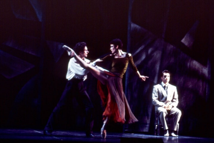 """Robert Thomson's lighting design for the National Ballet of Canada's production of """"The Miraculous Mandarin""""."""