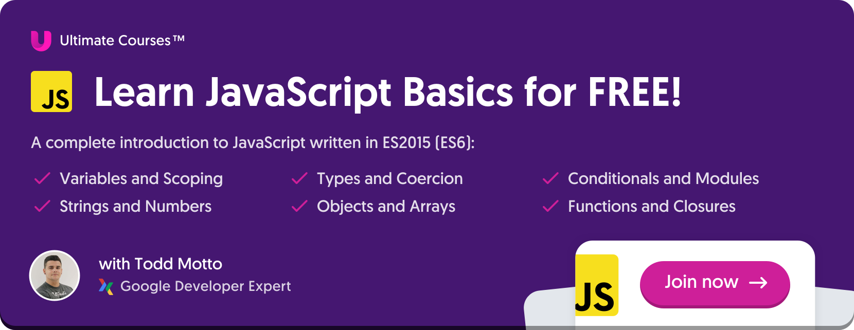 Learn JavaScript basics for free
