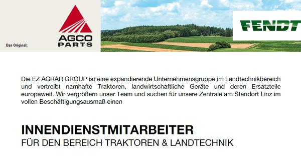 Innendienstmitarbeiter für den Bereich Traktoren & Landtechnik