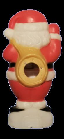 Waving Santa with Bag photo
