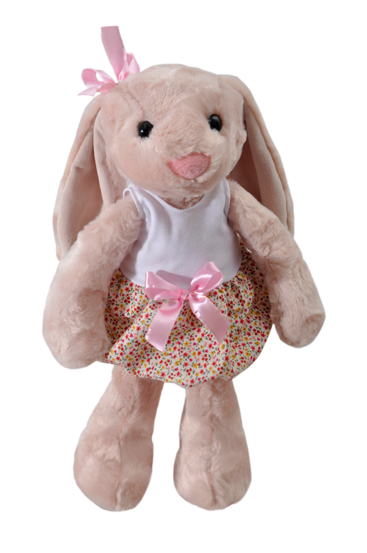 "The Petting Zoo: 15"" Brynn Bunny With Floral Print"