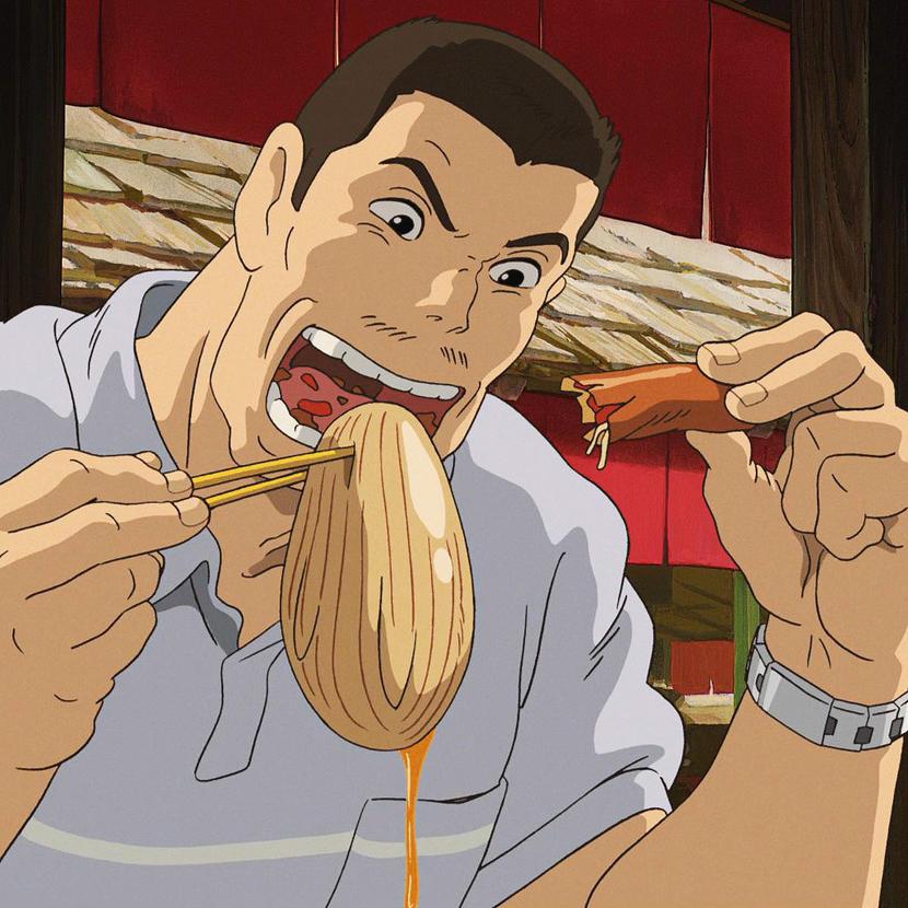 Фрагмент аниме-фильма «Унесённые призраками» (2001). Режиссёр: Хаяо Миядзаки
