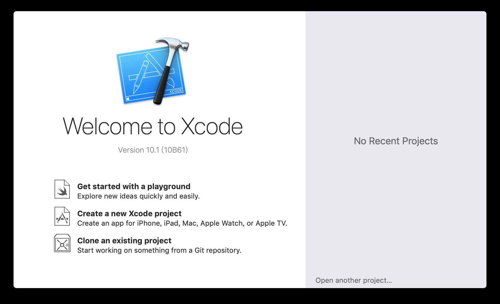 啟動 Xcode
