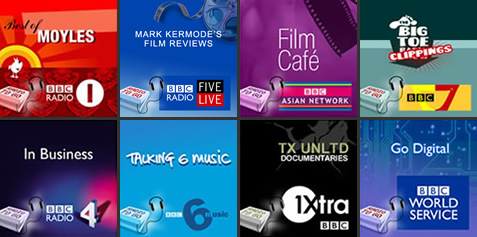 Examples of BBC podcast artwork