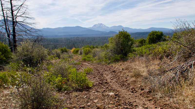 The trail heads toward Lassen Peak