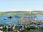 Busy Lerwick Harbour, 1999  » Click to zoom ->
