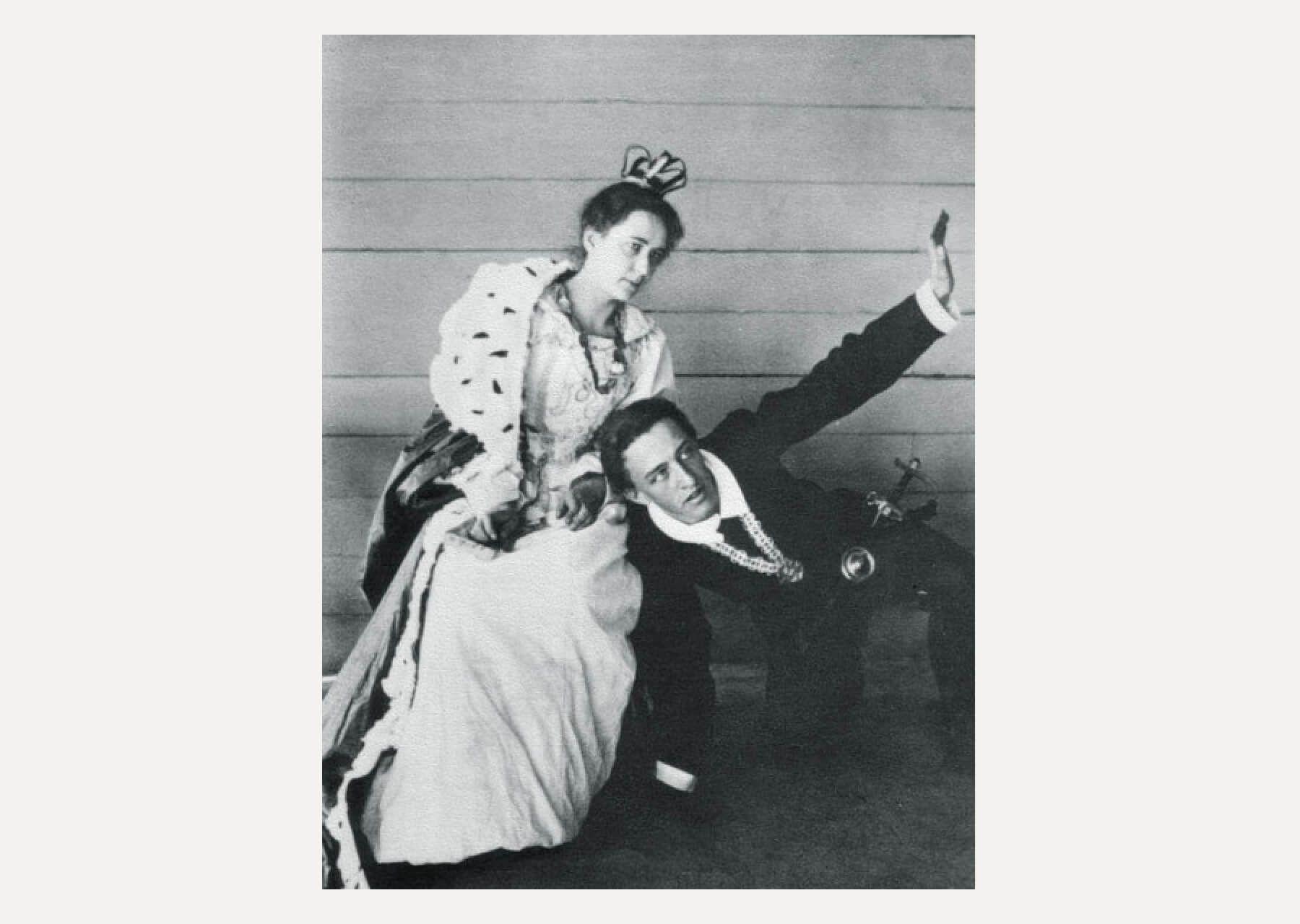 Любовь Блок с Александром Блоком в любительском спектакле / ru.wikipedia.org
