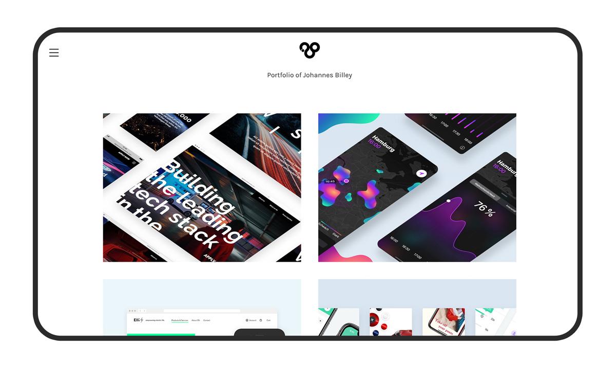 UX portfolio on Carbonmade