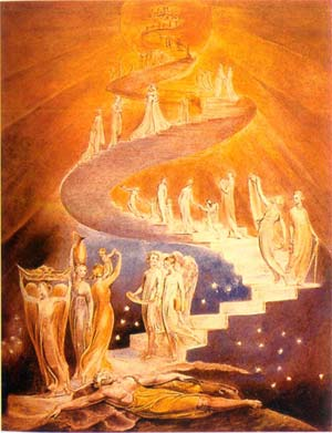 Jacob's Ladder by William Blake. Public Domain