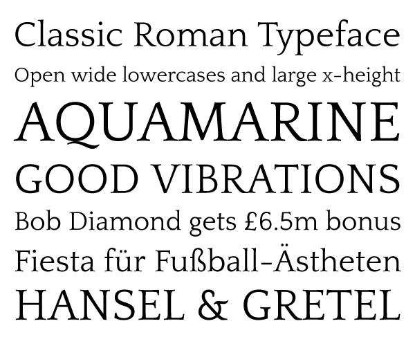 The quattrocento roman font