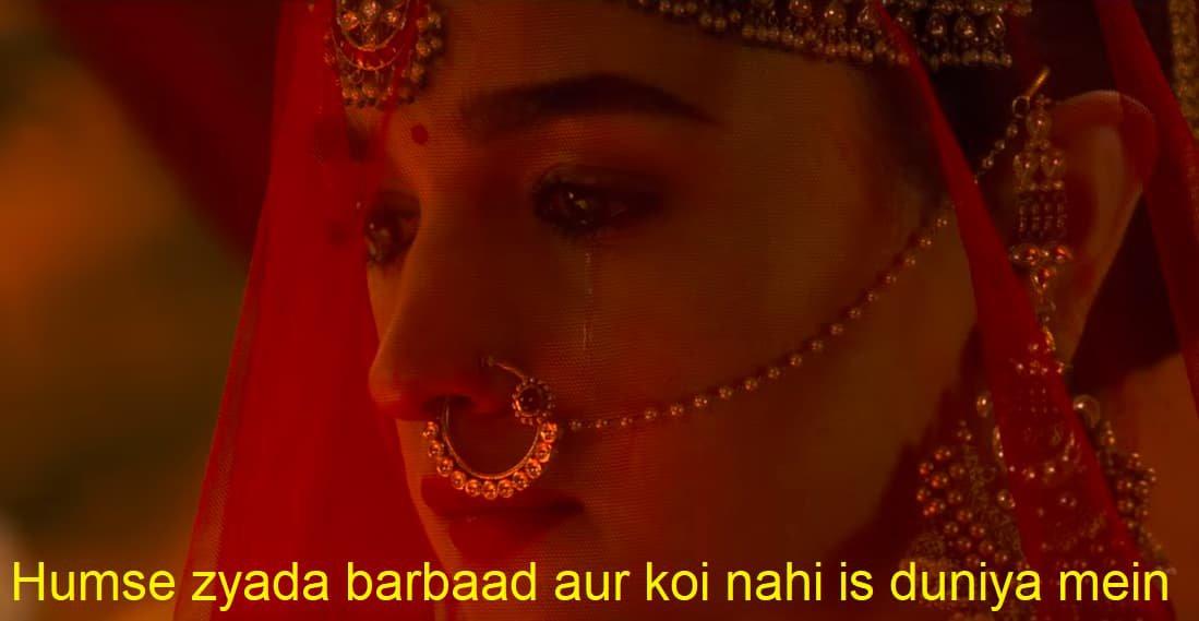 Alia Bhatt in Kalank Teaser Humse zyada barbaad aur koi nahi hai iss duniya mein