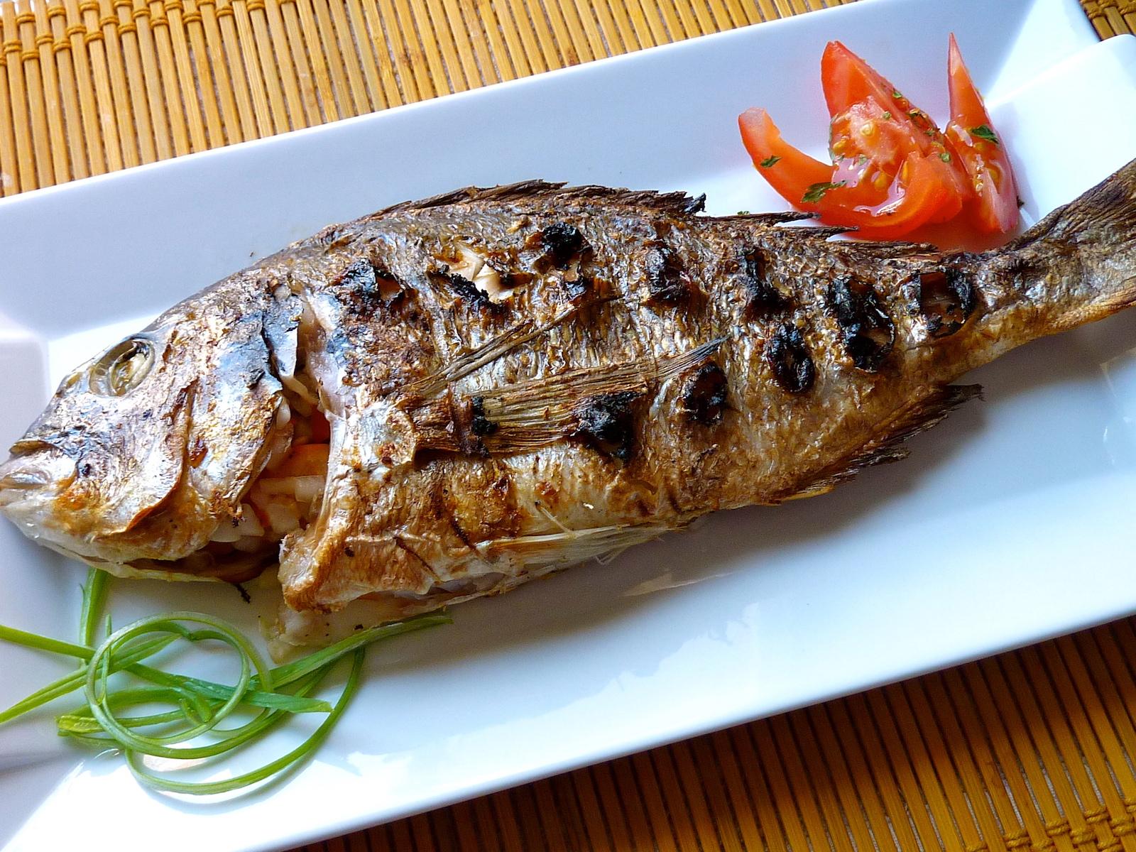 Grilled Dorada fish