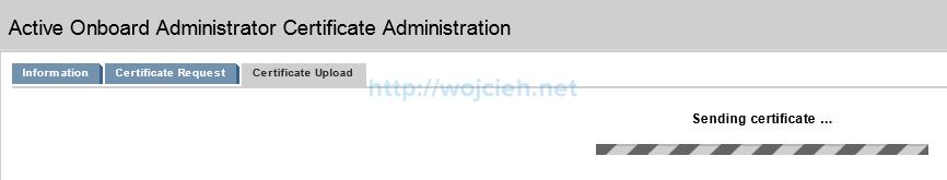 Installing signed SSL certificates in HP c7000 enclosure - 8