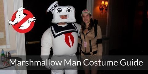 The entire body of this creature made of enormous pieces of white and soft marshmallow put together, He's also known as the Stay Puft Marshmallow Man, how cute