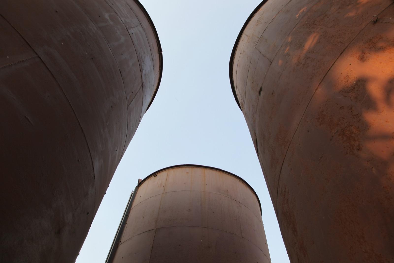 Exterior view, TRINITY: Godrej Legacy Park silos, 2015