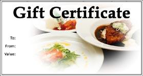 Gift Certificate Template Restaurant 01
