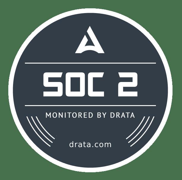 SOC2 monitored by Drata