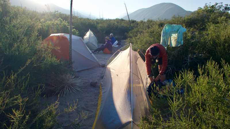 Tents at Swarthout Canyon campsite