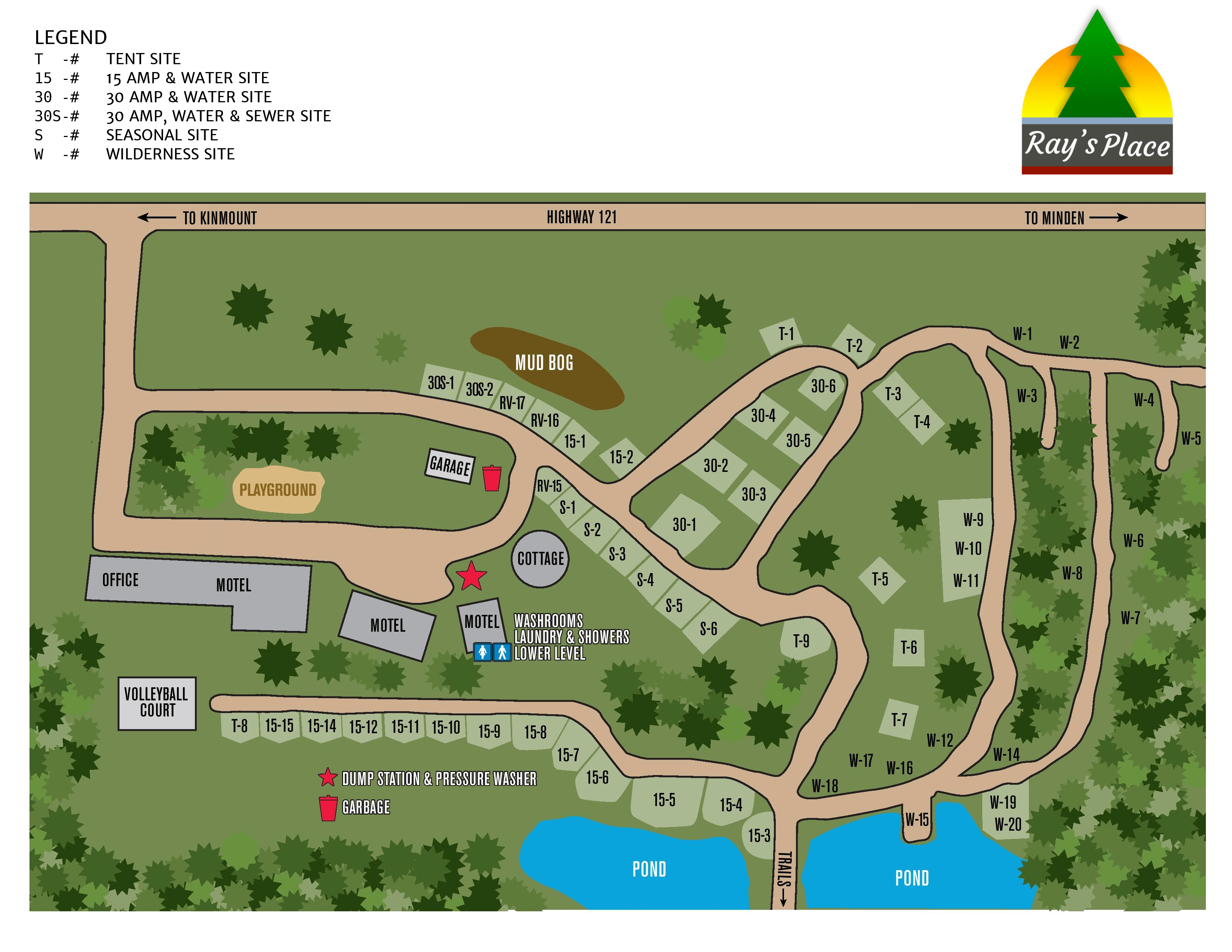 Rays Place Property Map