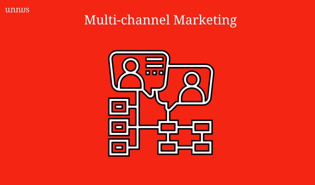 Multi-marketing channel illustration