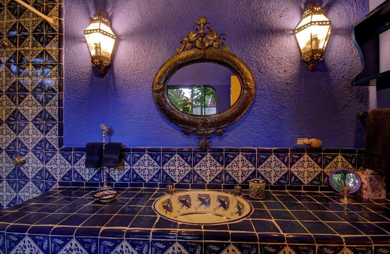 The Fountain Suite Bath has authentic hand-painted tiles and endless hot water too.