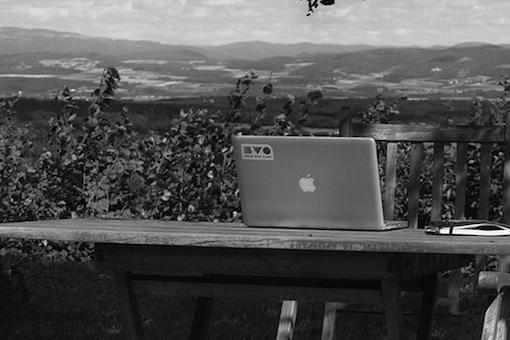 Mon bureau dans le jardin