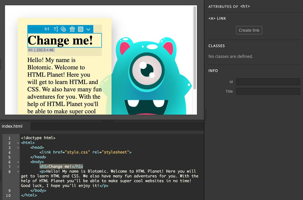 Learn HTML & CSS visually and with code.