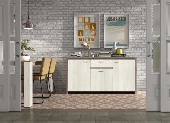 True Furniture Berlijn 13 Dressoir Truffel Eiken White Wash 9200000086979296_1 Spaanplaat