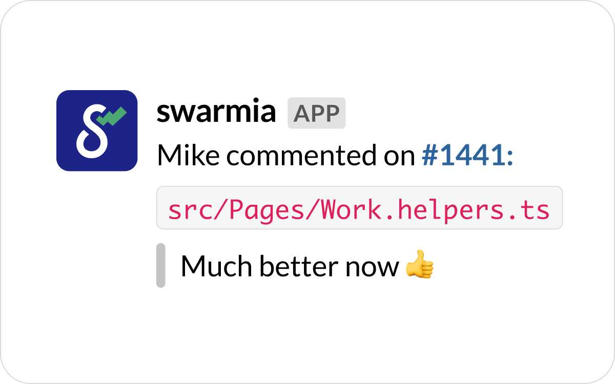Notification preview in Slack
