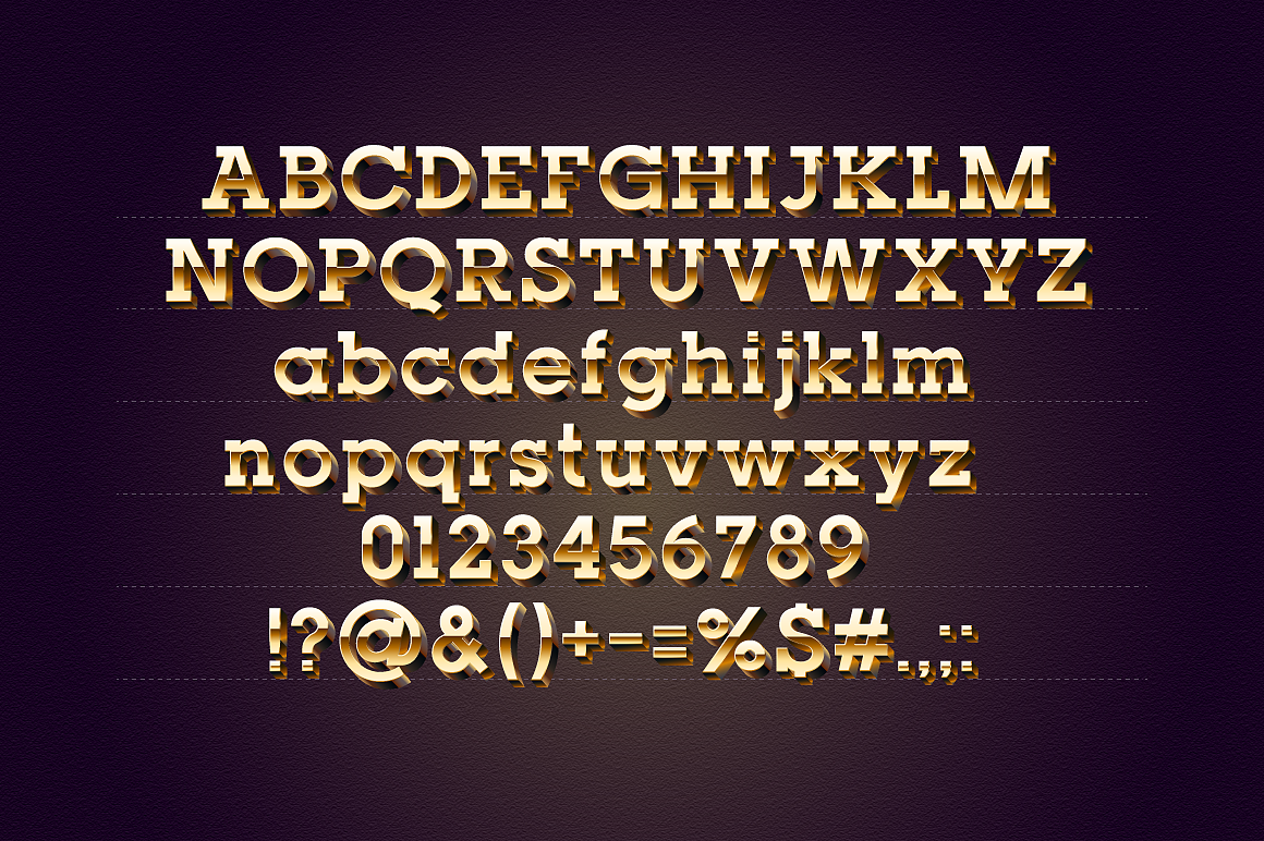Golden 3D Slab Typefaces images/promo_2.png