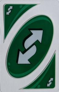 Uno Splash (2014) Green Uno Reverse Card