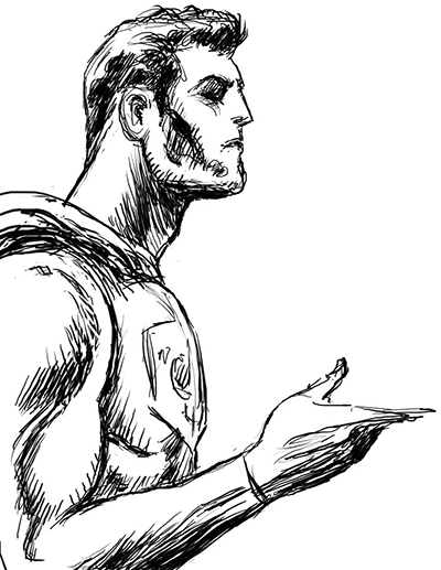 Superman Question Sketch