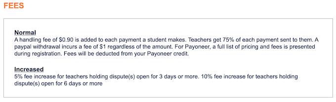 homeworkmarket.com fees