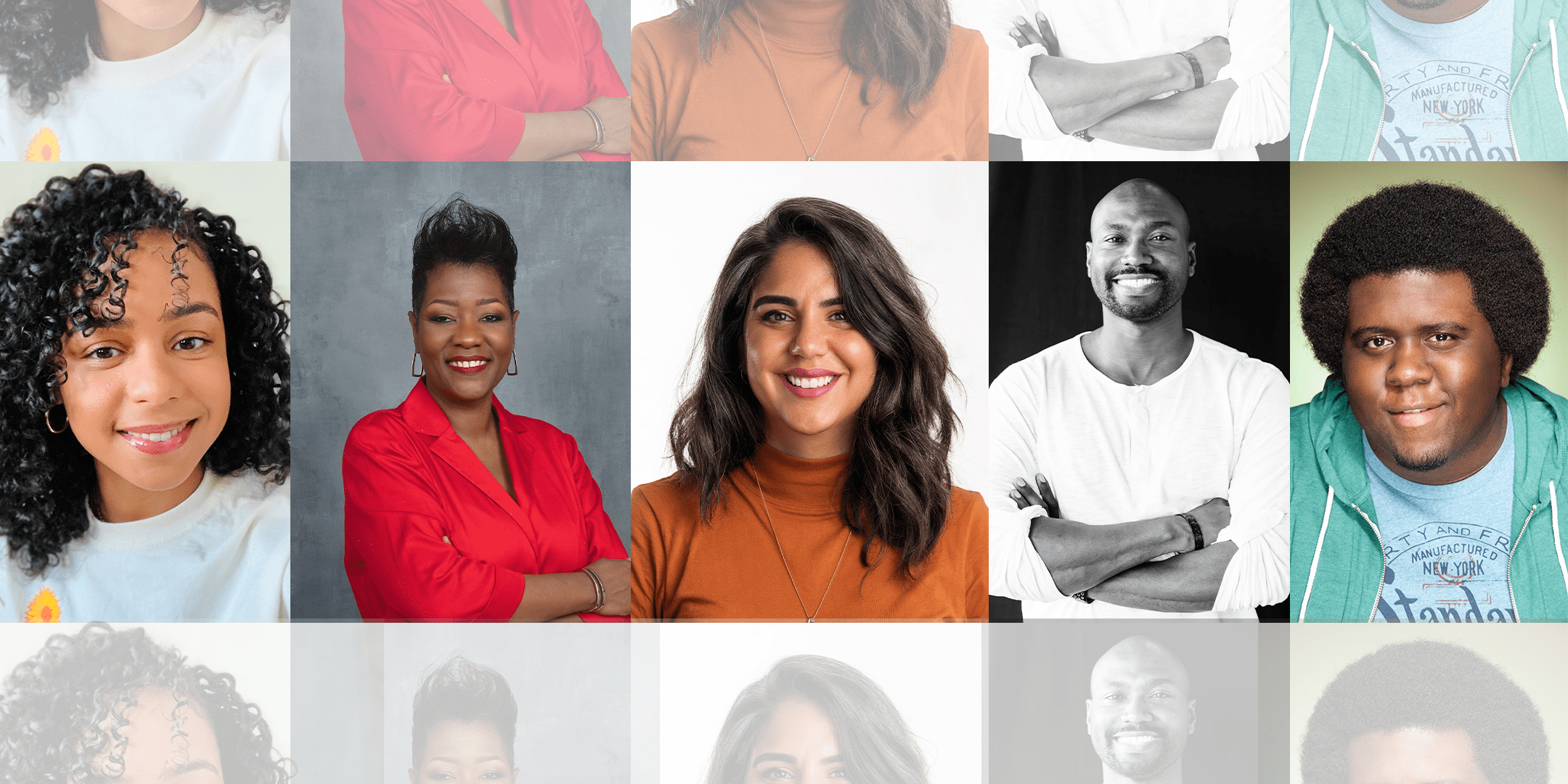 Photos of moderator Maurice Cherry and speakers Earl Gray, Elaine Lopez, Marlene Marmolejos, and Jacinda Walker.