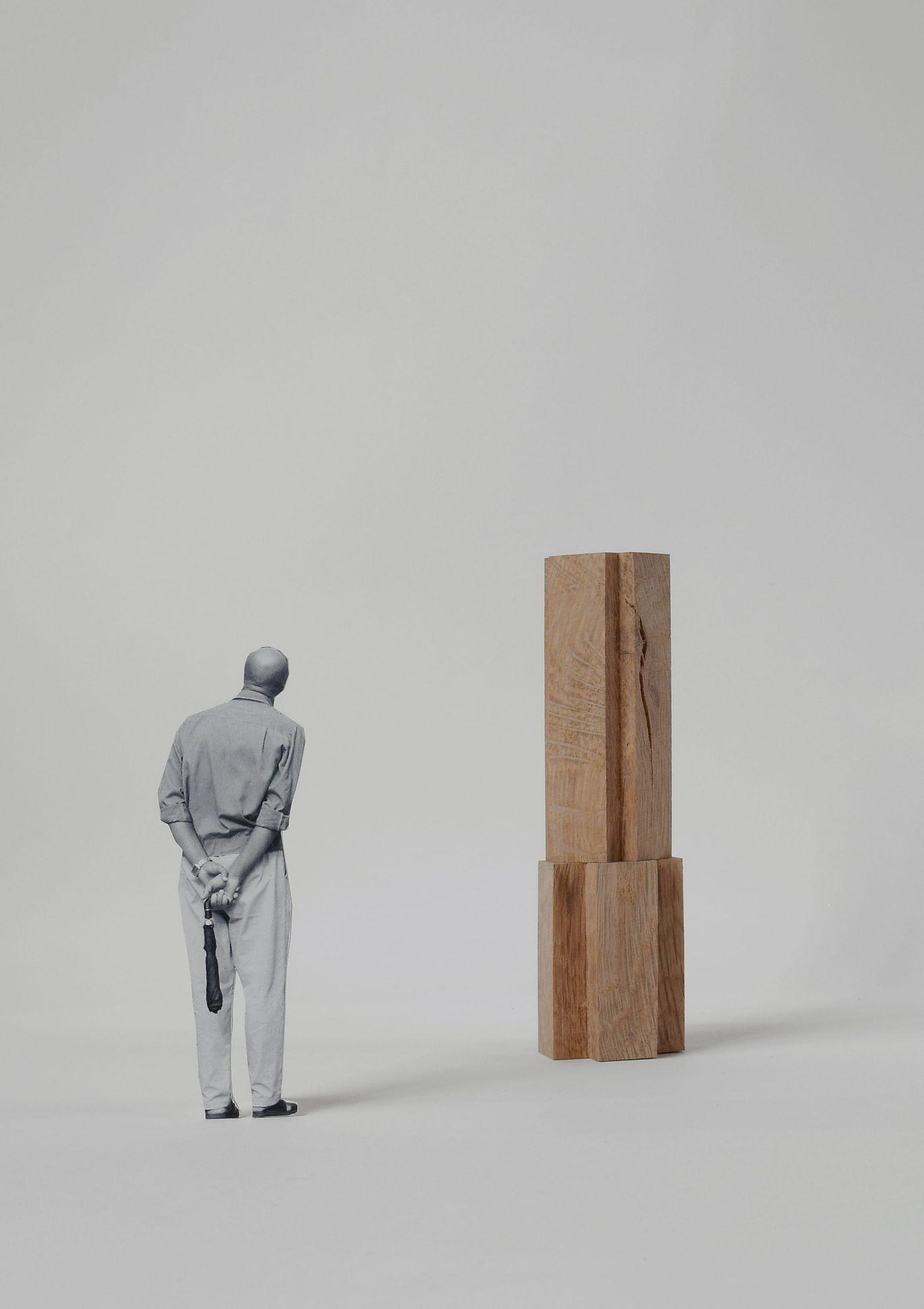 Timber totem sculpture designed by From Works for Bishopstoke Park.