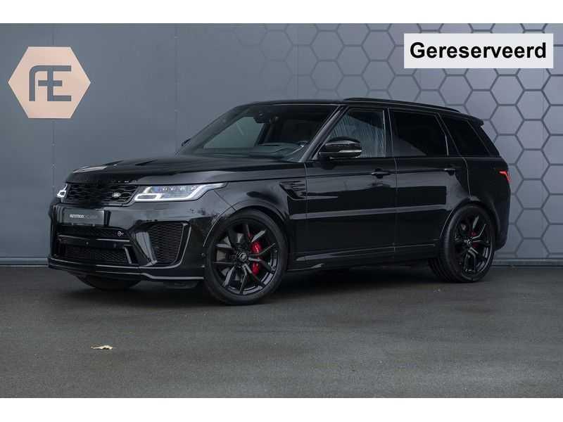 "Land Rover Range Rover Sport SVR 5.0 V8 SC Carbon interieur, Stoelkoeling, Head-up, Panoramadak, Elektrische Trekhaak, 22"", Pixel Laser Led Koplampen, Apple Carplay, 360Camera, Meridian Surround, Verwarmbaar Stuurwiel"