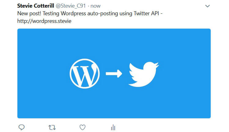 Auto-posted Tweet example