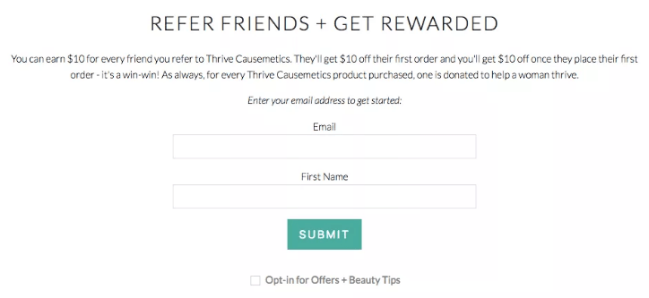 Referral program rewards