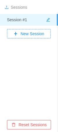 Smocker's user interface - Sessions sidebar