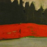 "Alice Kask, Estonia. ""The Red Rock"" 1997. Cardboard, acrylic 40x75cm"