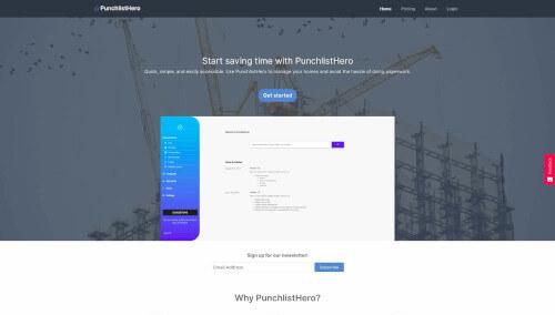 PunchlistHero homepage