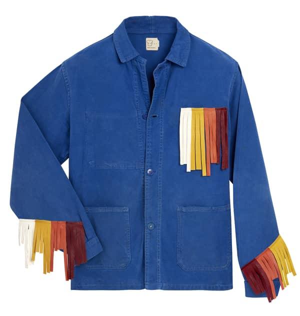 Chemise à franges upcyclée